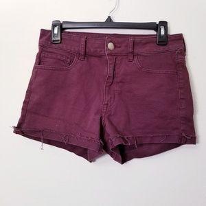American Eagle Sz 4 Purple Hi Rise Shortie shorts